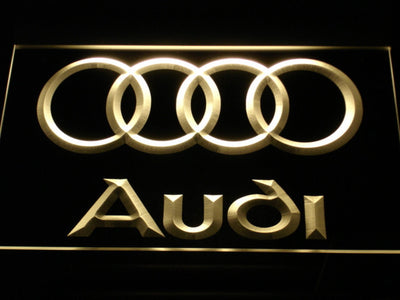 Audi LED Neon Sign - Yellow - SafeSpecial