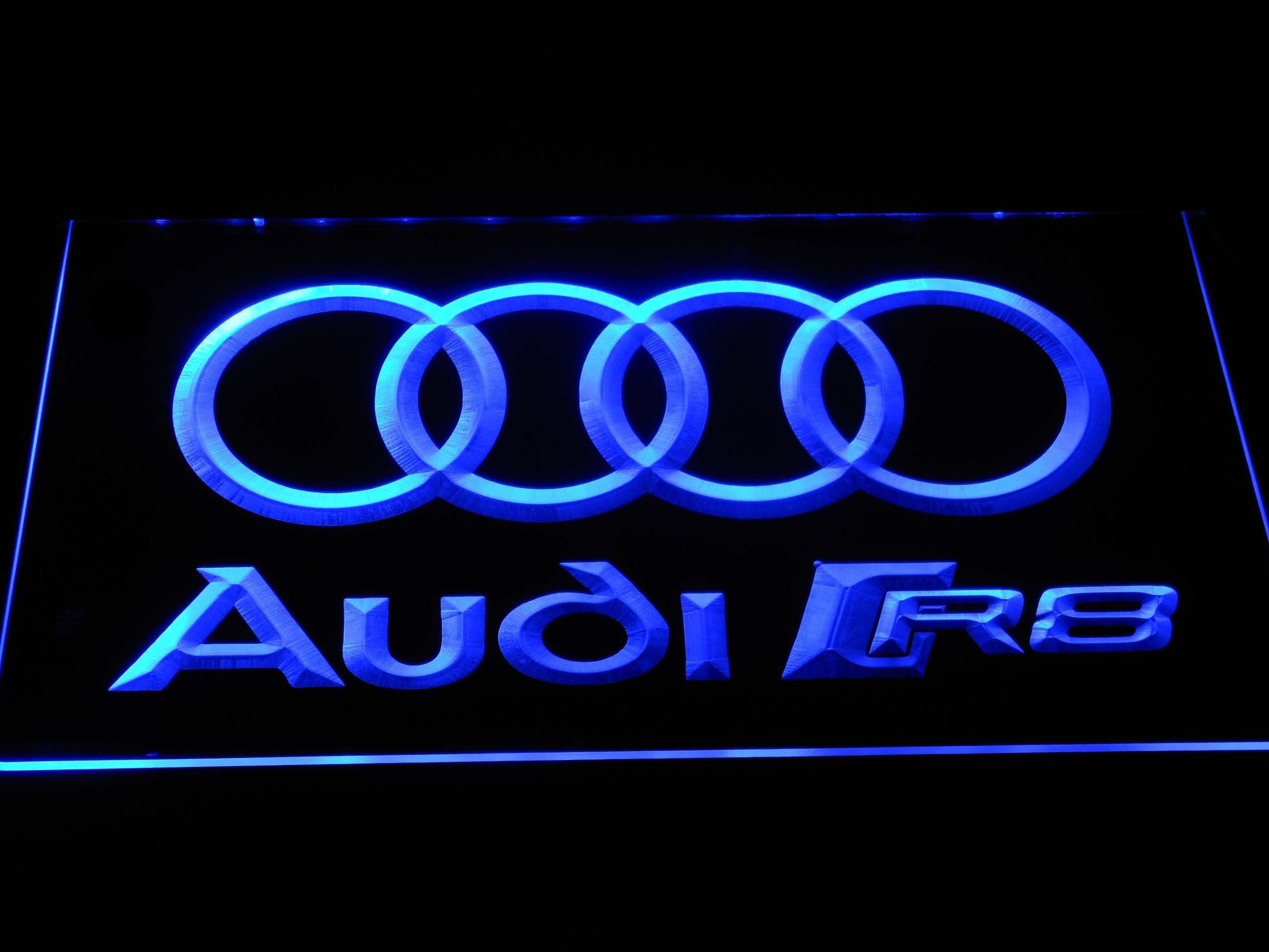audi r8 logo led neon sign safespecial. Black Bedroom Furniture Sets. Home Design Ideas
