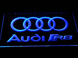 Audi R8 Logo LED Neon Sign - Blue - SafeSpecial