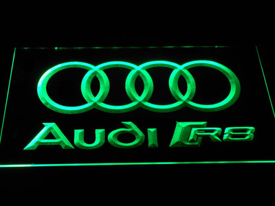 Audi R8 Logo LED Neon Sign - Green - SafeSpecial