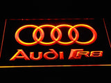 Audi R8 Logo LED Neon Sign - Orange - SafeSpecial