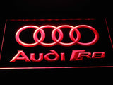 Audi R8 Logo LED Neon Sign - Red - SafeSpecial