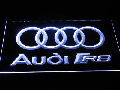 Audi R8 Logo LED Neon Sign - White - SafeSpecial
