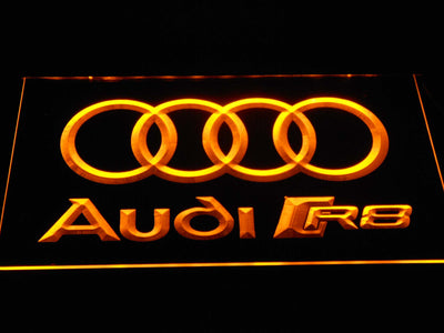 Audi R8 Logo LED Neon Sign - Yellow - SafeSpecial