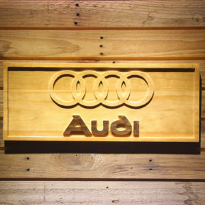 Audi Wooden Sign - Small - SafeSpecial