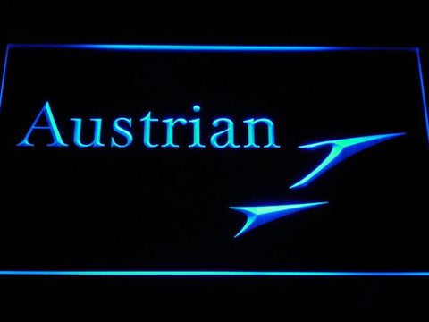 Austrian Airlines LED Neon Sign - Blue - SafeSpecial
