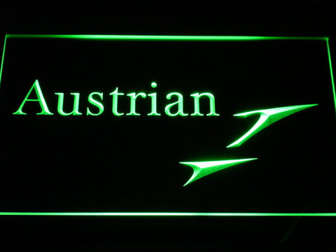 Austrian Airlines LED Neon Sign - Green - SafeSpecial