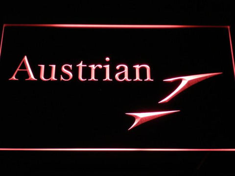 Austrian Airlines LED Neon Sign - Red - SafeSpecial