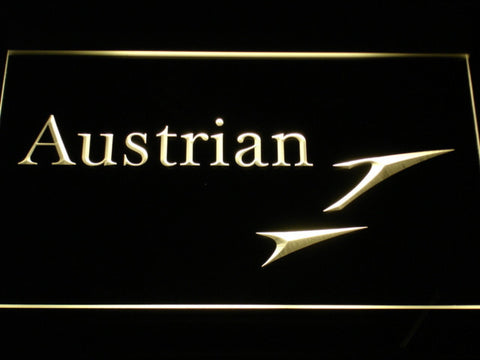 Austrian Airlines LED Neon Sign - Yellow - SafeSpecial