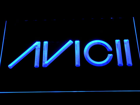 Avicii LED Neon Sign - Blue - SafeSpecial