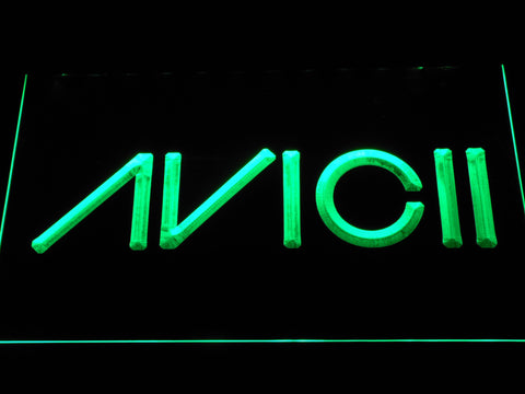 Avicii LED Neon Sign - Green - SafeSpecial