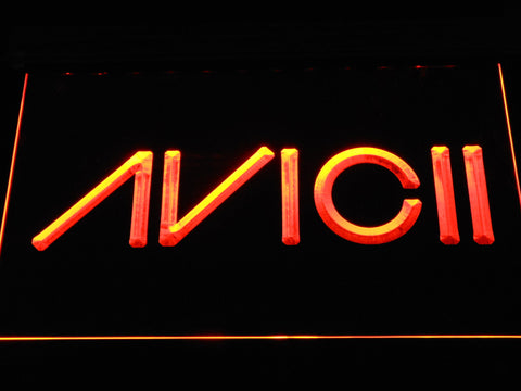 Avicii LED Neon Sign - Orange - SafeSpecial