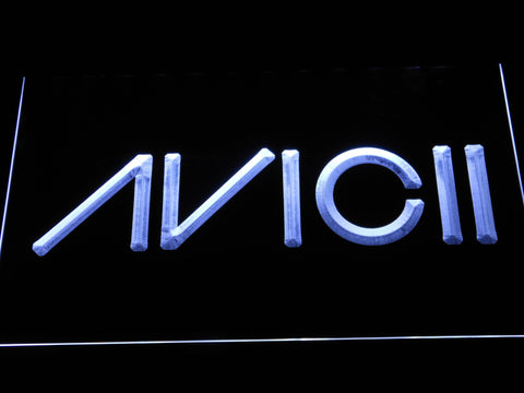 Avicii LED Neon Sign - White - SafeSpecial