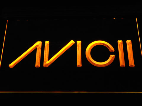 Avicii LED Neon Sign - Yellow - SafeSpecial