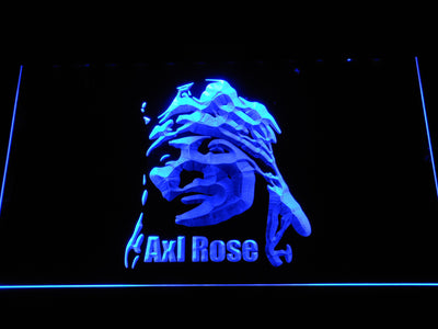 Axl Rose LED Neon Sign - Blue - SafeSpecial