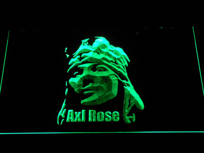 Axl Rose LED Neon Sign - Green - SafeSpecial