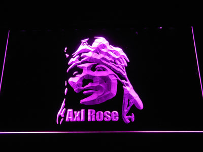Axl Rose LED Neon Sign - Purple - SafeSpecial