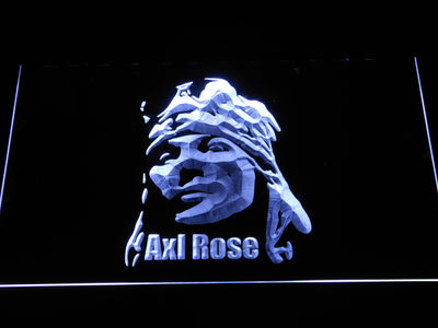 Axl Rose LED Neon Sign - White - SafeSpecial