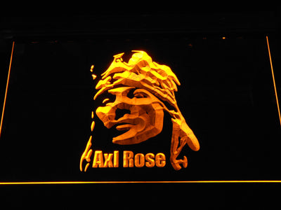 Axl Rose LED Neon Sign - Yellow - SafeSpecial