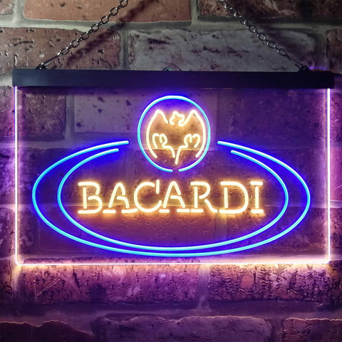 Image of Bacardi Banner Logo Neon-Like LED Sign - Dual Color