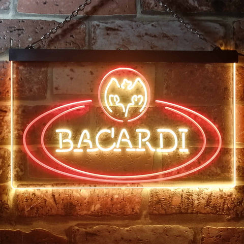 Bacardi Banner Logo Neon-Like LED Sign - Dual Color