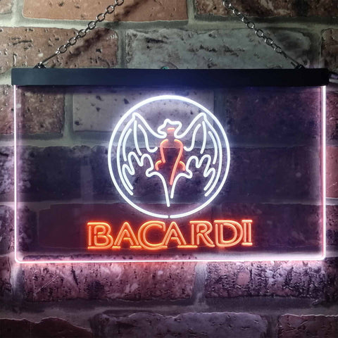 Bacardi  Bat Banner Neon-Like LED Sign - Dual Color