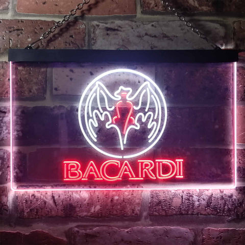 Image of Bacardi  Bat Banner Neon-Like LED Sign - Dual Color