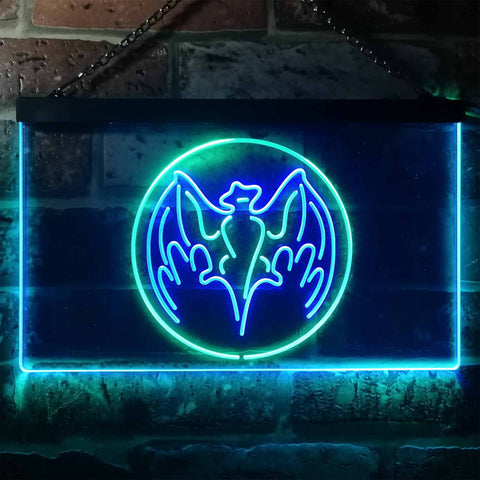 Image of Bacardi Bat Logo Neon-Like LED Sign - Dual Color
