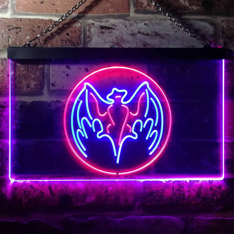 Bacardi Bat Logo Neon-Like LED Sign - Dual Color