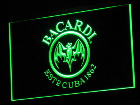 Image of Bacardi LED Neon Sign - Green - SafeSpecial