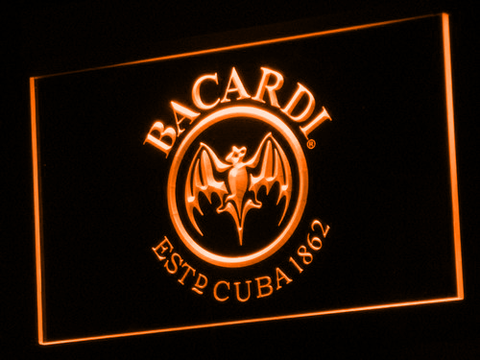 Image of Bacardi LED Neon Sign - Orange - SafeSpecial