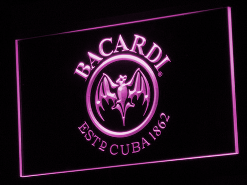 Bacardi LED Neon Sign - Purple - SafeSpecial