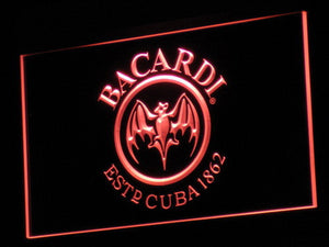 Bacardi LED Neon Sign - Red - SafeSpecial