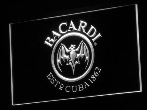 Bacardi LED Neon Sign - White - SafeSpecial