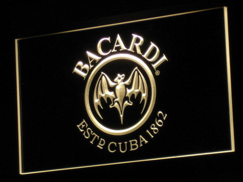 Bacardi LED Neon Sign - Yellow - SafeSpecial