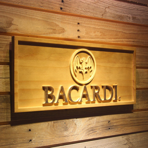 Image of Bacardi Logo Wooden Sign - - SafeSpecial