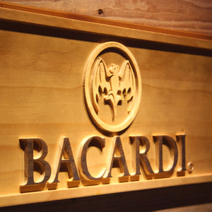 Bacardi Logo Wooden Sign - - SafeSpecial