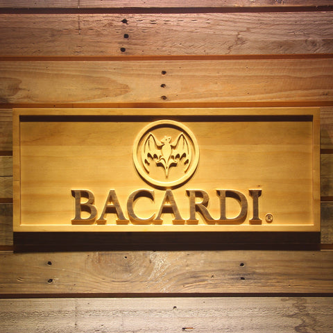 Bacardi Logo Wooden Sign - Small - SafeSpecial