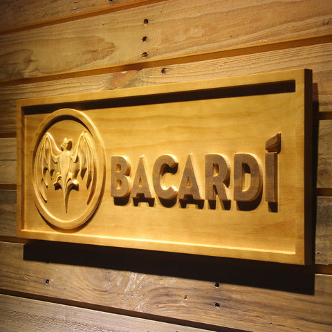 Image of Bacardi Wooden Sign - - SafeSpecial