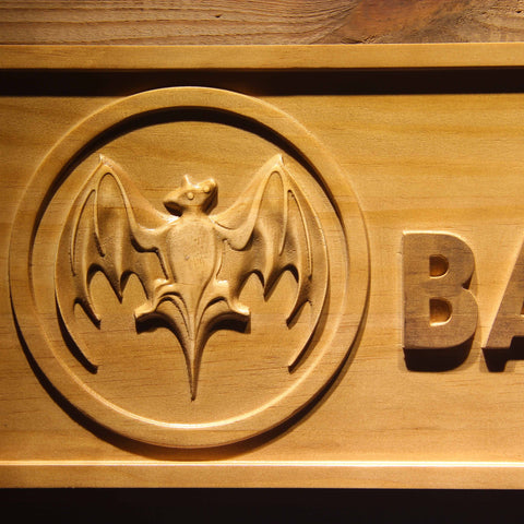 Bacardi Wooden Sign - - SafeSpecial