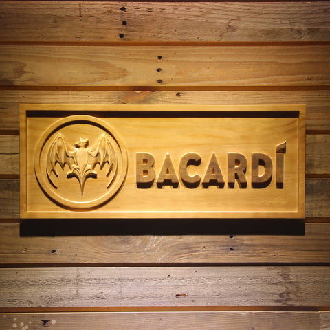 Bacardi Wooden Sign - Small - SafeSpecial