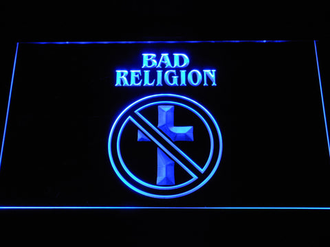 Bad Religion LED Neon Sign - Blue - SafeSpecial