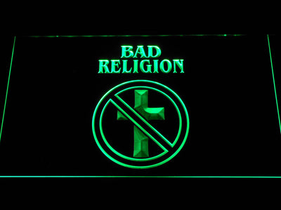 Bad Religion LED Neon Sign - Green - SafeSpecial