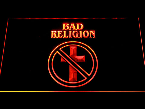 Bad Religion LED Neon Sign - Orange - SafeSpecial
