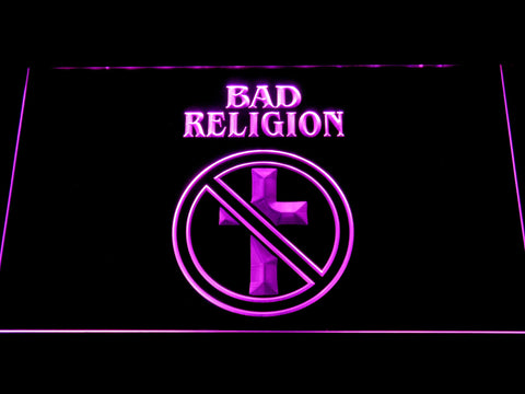 Bad Religion LED Neon Sign - Purple - SafeSpecial