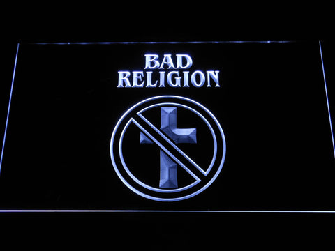 Bad Religion LED Neon Sign - White - SafeSpecial