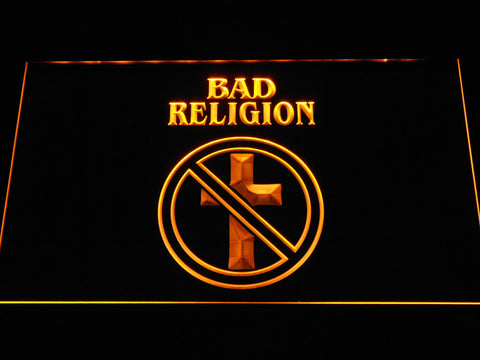 Bad Religion LED Neon Sign - Yellow - SafeSpecial