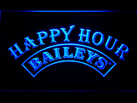 Image of Baileys Happy Hour LED Neon Sign - Blue - SafeSpecial
