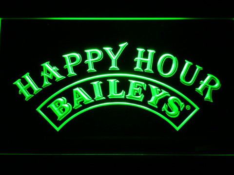 Image of Baileys Happy Hour LED Neon Sign - Green - SafeSpecial