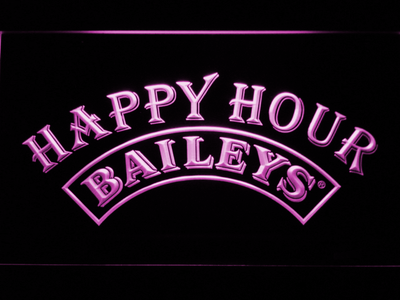 Baileys Happy Hour LED Neon Sign - Purple - SafeSpecial
